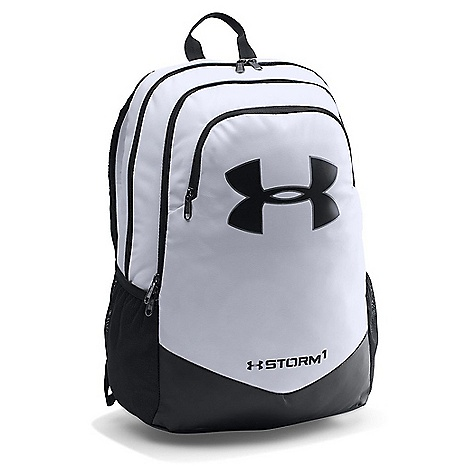 Under Armour Boys' UA Scrimmage Backpack White / Black / Black