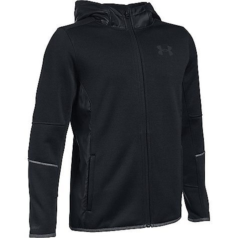 Under Armour Boys' UA Swacket Full Zip Jacket Black / Black