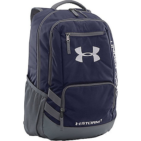 Under Armour UA Team Hustle Backpack Midnight Navy / Graphite / Silver