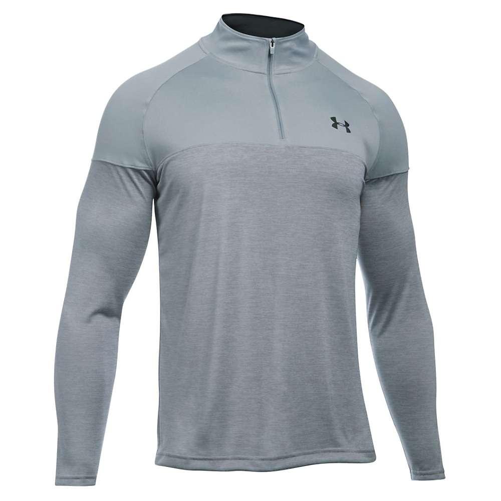 Under Armour Men's UA Tech Novelty 1/4 Zip Top - Large - Steel / Steel / Black