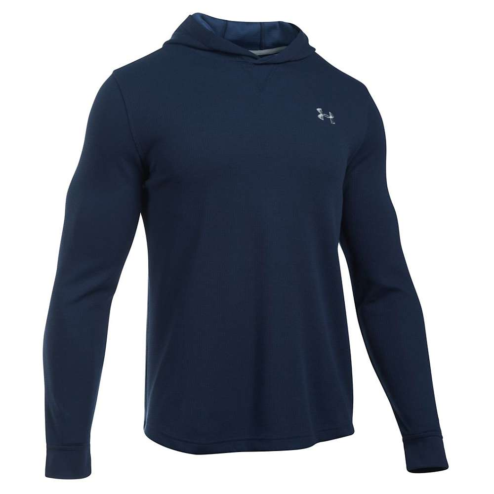 Under Armour Men's UA Waffle Popover Hoody - XXL - Midnight Navy / Midnight Navy / Steel