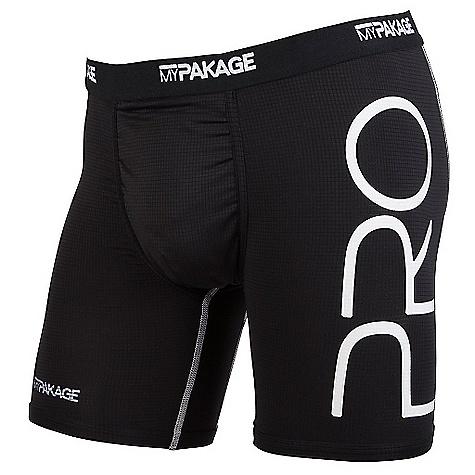 MyPakage Men's Pro Series Boxer Brief Black / White