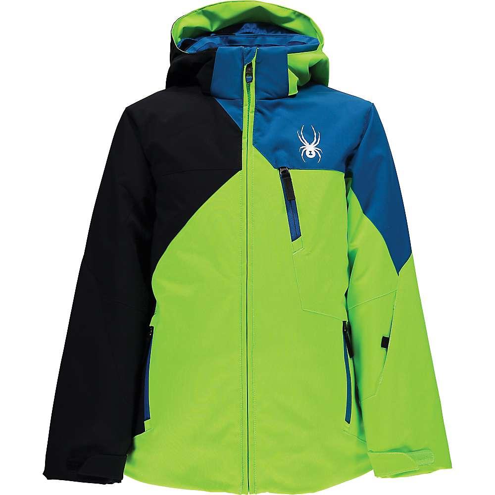 Spyder Boys' Ambush Jacket - 18 - Bryte Green / Black / Concept Blue