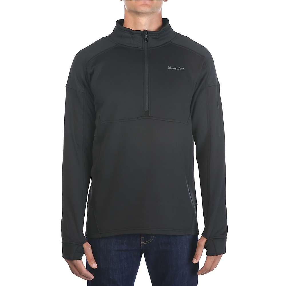 Moosejaw Men's Woodbridge 1/2 Zip Stretch Fleece - XL - Black