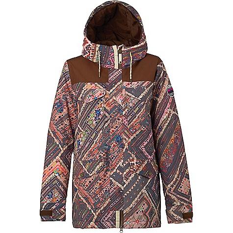 Burton Women's Fremont Jacket Wanderer Quilt / Brown Leather