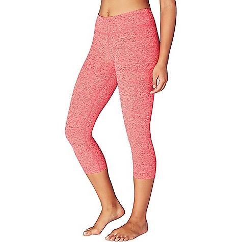 Beyond Yoga Women's Spacedye Capri Legging Sunset Rose / Coral Reef Spacedye