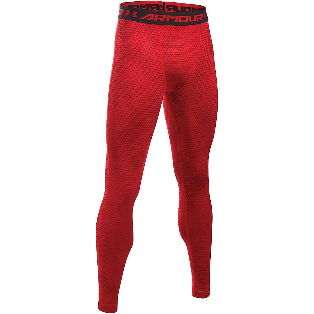 Under Armour Men's Armour HeatGear Printed Legging - Medium - Red / Black