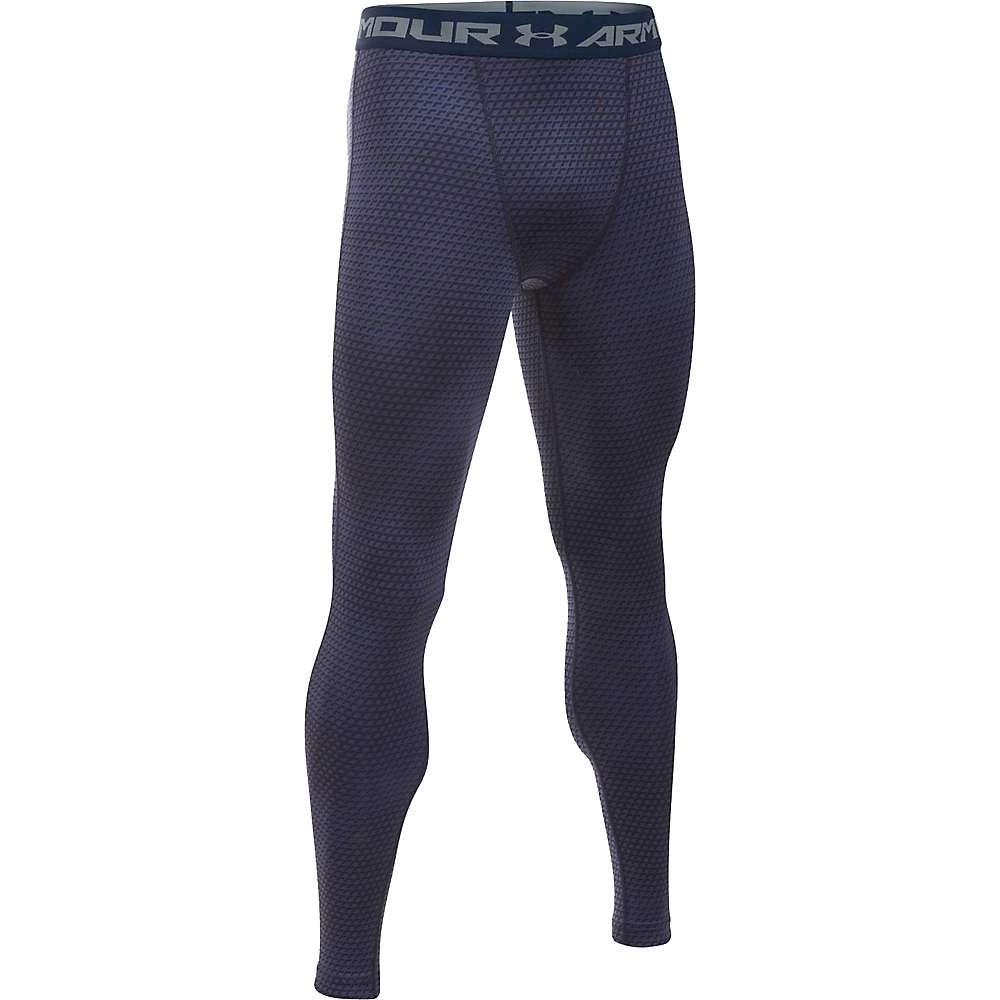 Under Armour Men's Armour HeatGear Printed Legging - XL - Midnight Navy / Steel