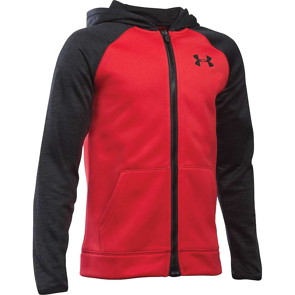 Under Armour Boys' Armour Fleece Storm MagZip Hoodie - Large - Red / Black / Black
