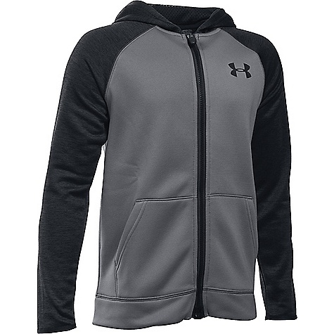 Under Armour Boys' Armour Fleece Storm MagZip Hoodie Graphite / Black / Black