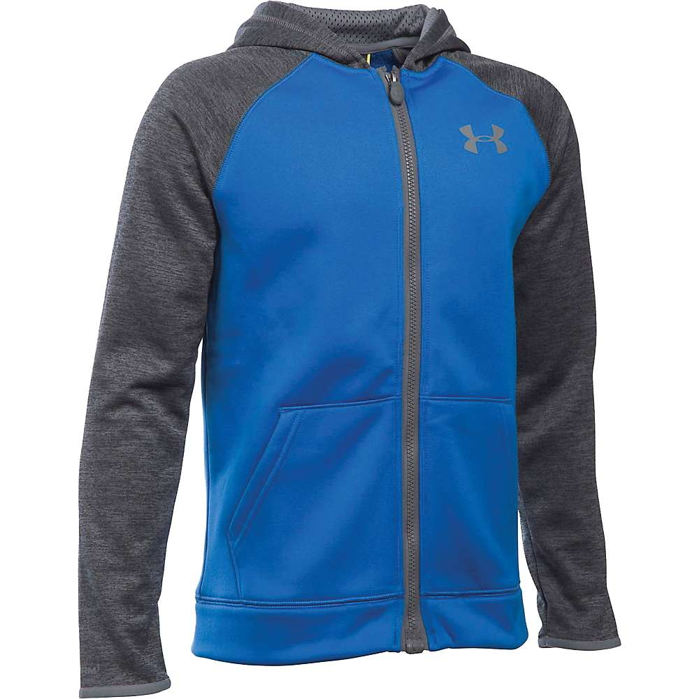 Under Armour Boys' Armour Fleece Storm MagZip Hoodie - XL - Ultra Blue / Graphite / Graphite