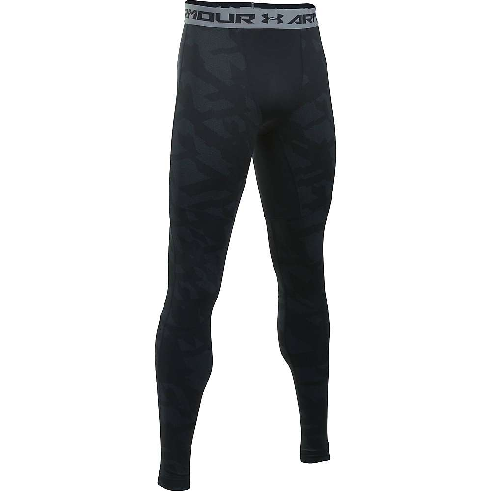 Under Armour Men's ColdGear Armour Jacquard Legging - Large - Black / Steel