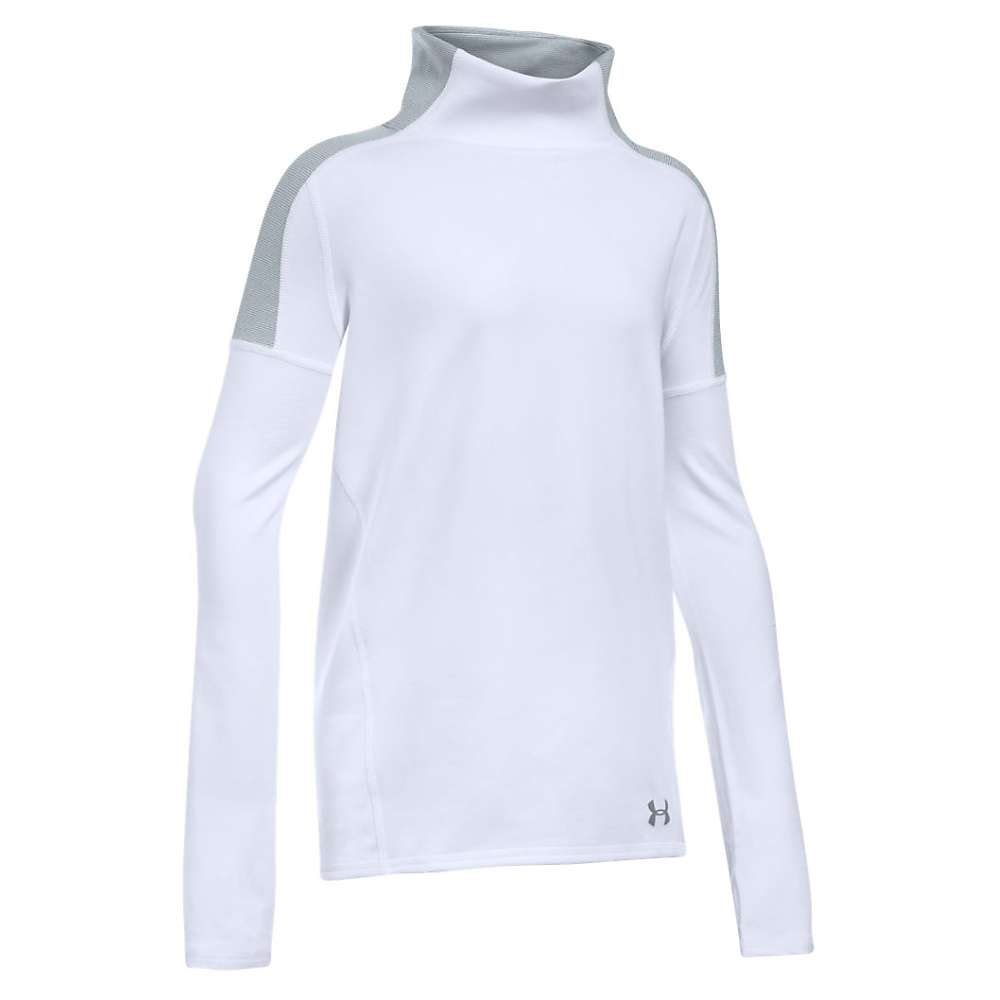 Under Armour Girls' Cozy ColdGear LS Top - Small - White / Steel / Steel