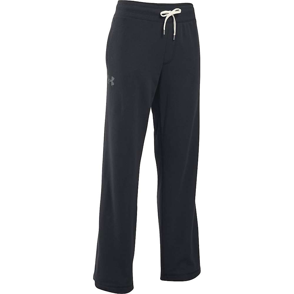 Under Armour Women's French Terry Slouchy Pant - XL - Black / Graphite