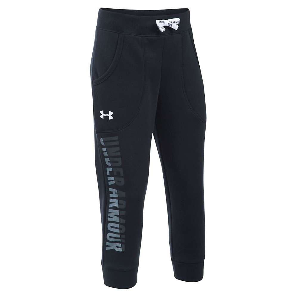Under Armour Girls' Favorite Fleece Capri - Large - Black / White