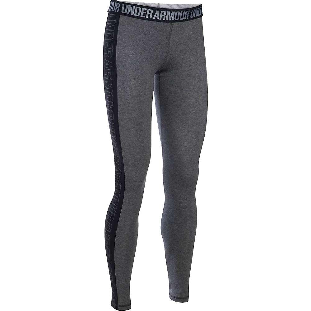 Under Armour Women's Favorite Graphic Legging - Small - Carbon Heather / Black / Graphite