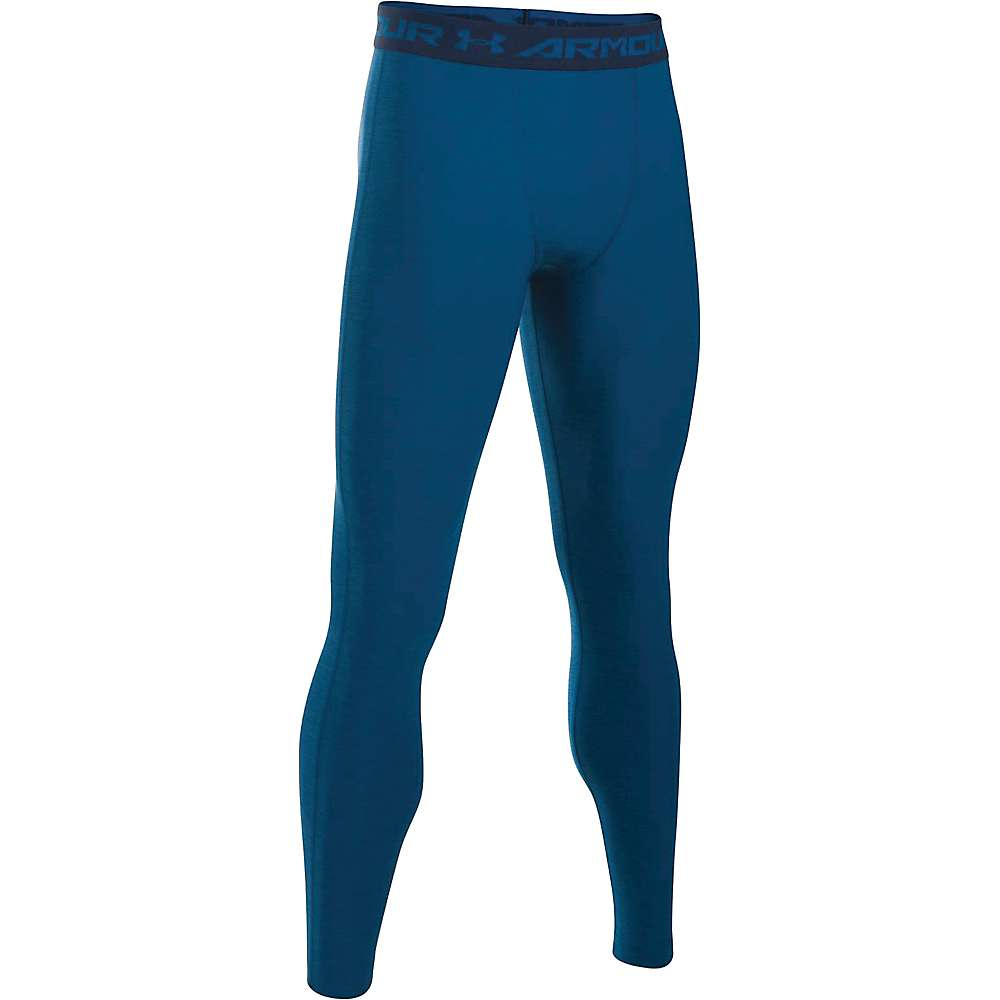 Under Armour Men's HeatGear Armour Twist Compression Legging - Small - Heron / Midnight Navy