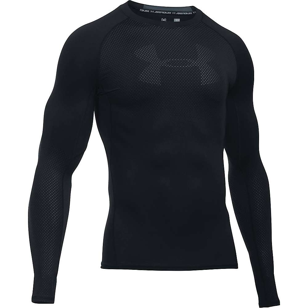 Under Armour Men's HeatGear Armour Graphic LS Tee - XL - Black / Stealth Gray