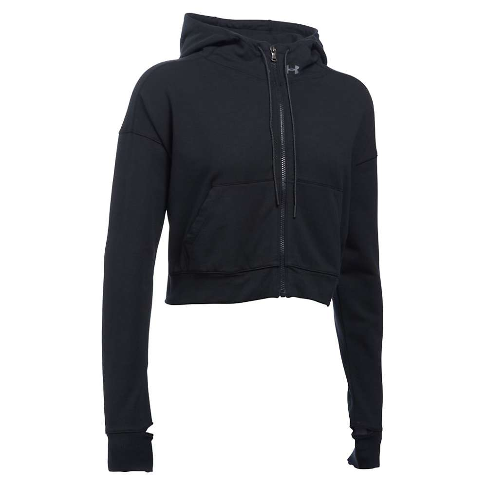 Under Armour Women's Modern Terry Jacket - Large - Black / Gray Area