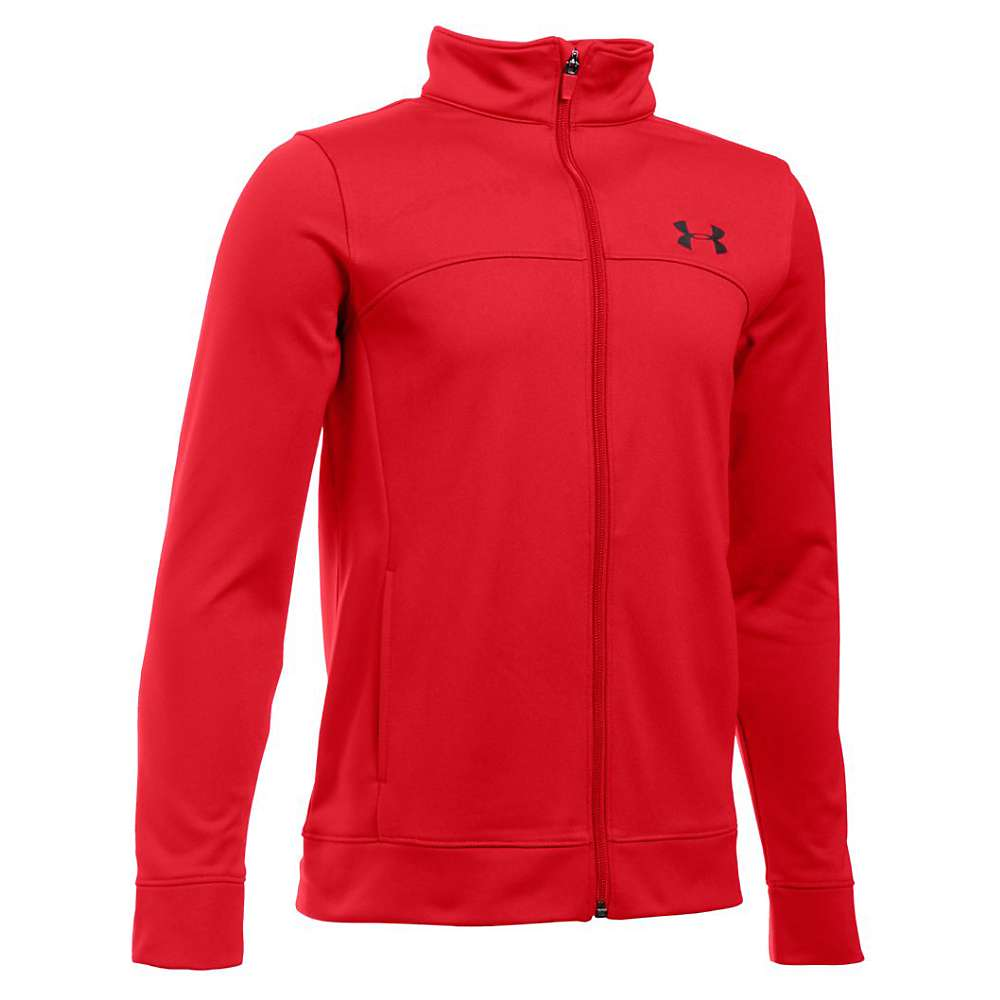 Under Armour Boys' Pennant Warm Up Jacket - Large - Red / Black