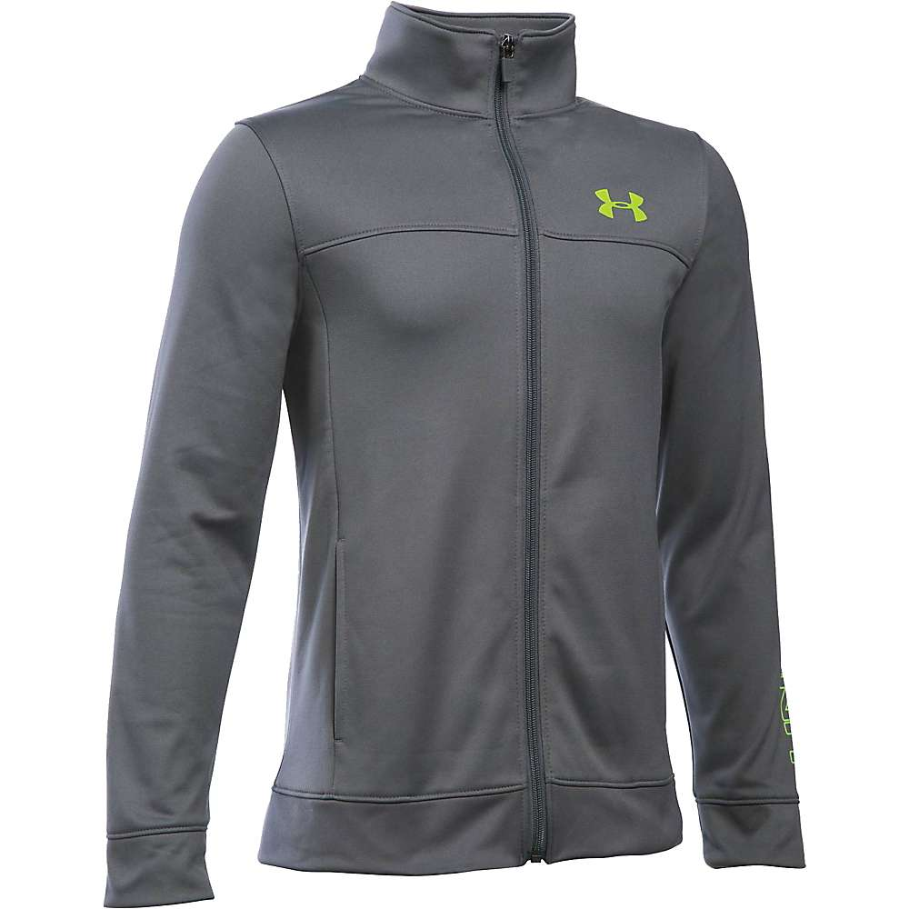 Under Armour Boys' Pennant Warm Up Jacket - Large - Graphite / Fuel Green