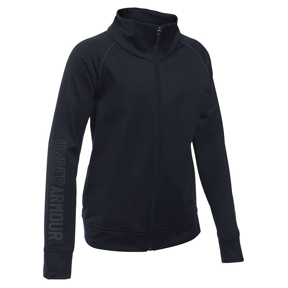 Under Armour Girls' Rival Warm Up Jacket - XS - Black / Stealth Gray