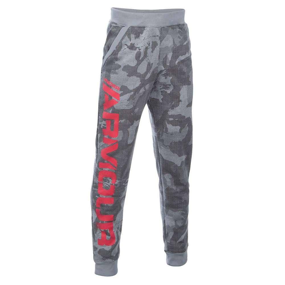 Under Armour Boys' Sportstyle Printed Jogger - Small - Steel / Red