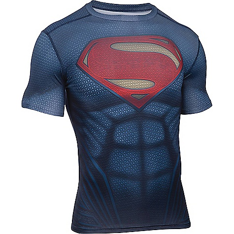 Under Armour Men's Superman Suit SS Tee Midnight Navy / Red