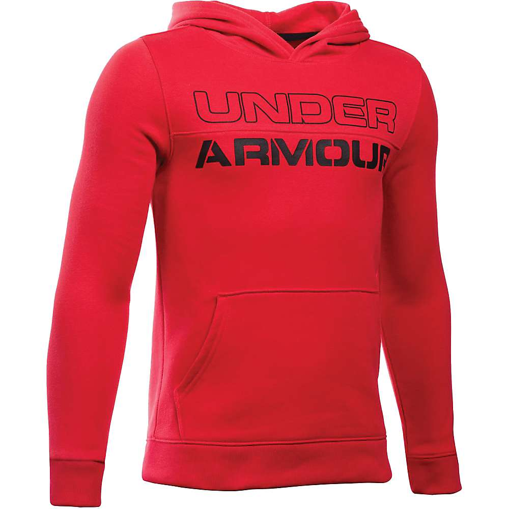 Under Armour Boys' Sportstyle Graphic Hoody - Large - Red / Red / Black