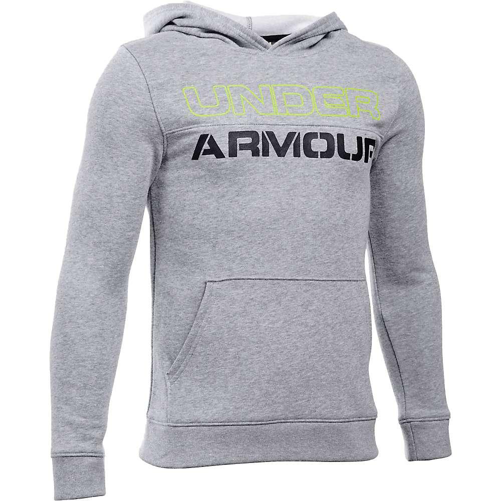 Under Armour Boys' Sportstyle Graphic Hoody - XL - True Gray Heather / True Gray Heather / Black