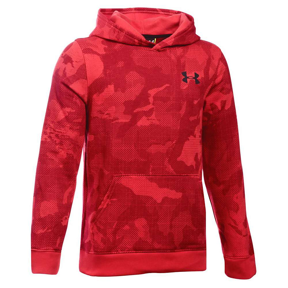 Under Armour Boys' Sportstyle Printed Hoody - Small - Red / Black