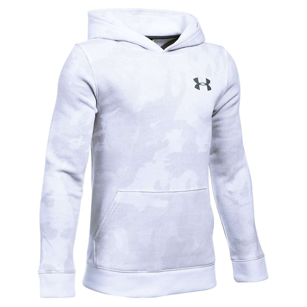 Under Armour Boys' Sportstyle Printed Hoody - Large - White / Graphite