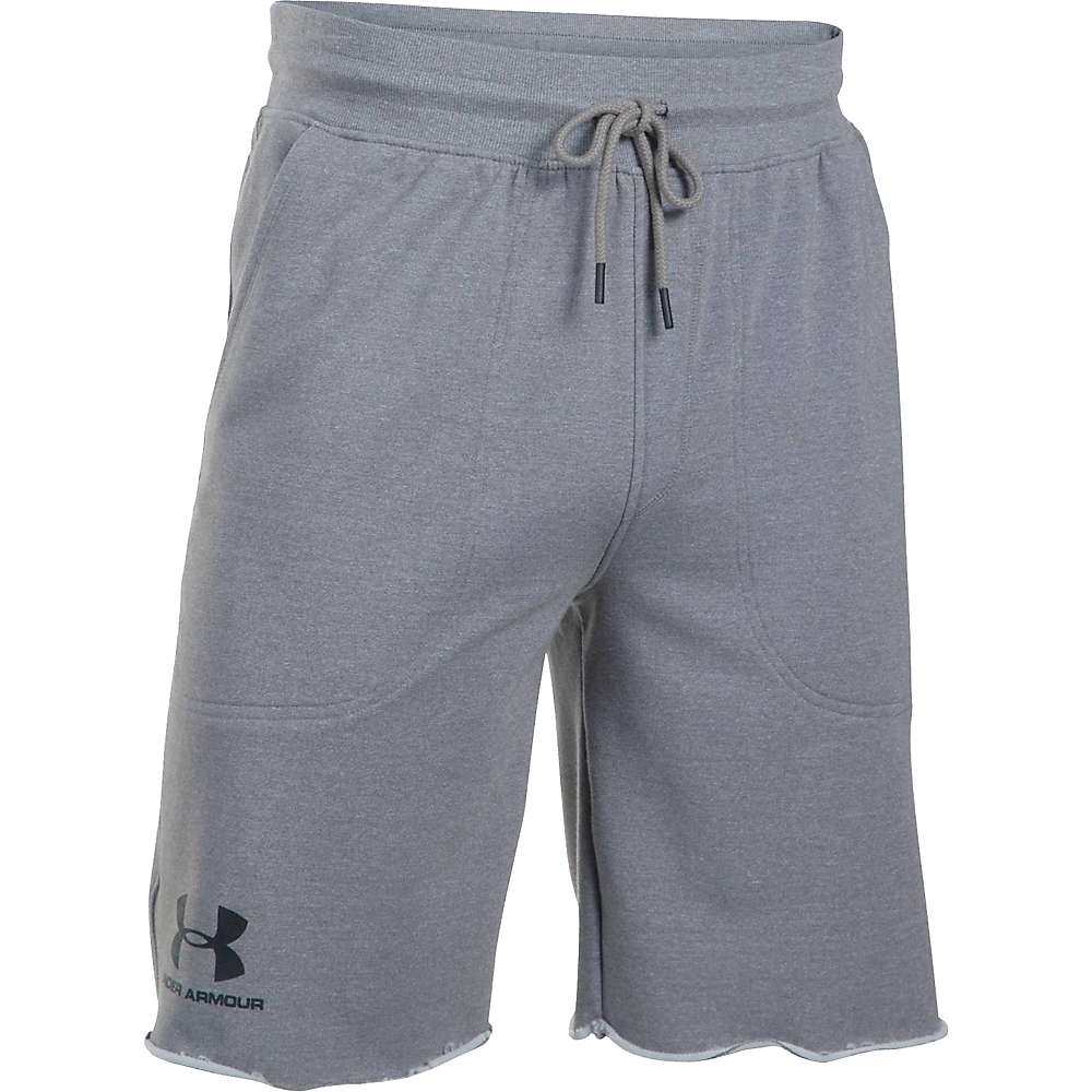 Under Armour Men's Sportstyle Terry Short - Large - Greyhound Heather / Greyhound Heather / Black
