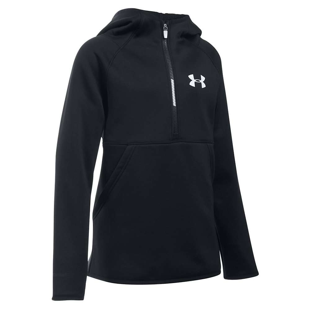 Under Armour Girls' Storm Armour Fleece 1/2 Zip Hoody - Medium - Black / Black / White