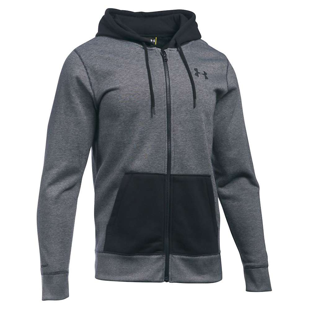 Under Armour Men's Storm Rival Cotton Novelty Full Zip Hoodie - XL - Black / Black / Black