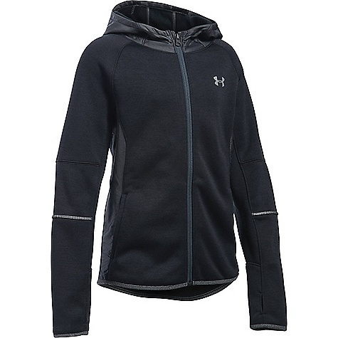 Under Armour Girls' Storm Full Zip Swacket Black / Black / Reflective