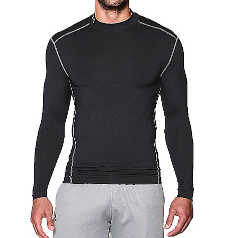 Under Armour Men's UA ColdGear Armour Mock Neck Top Black / Steel