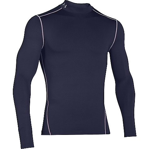 Under Armour Men's UA ColdGear Armour Mock Neck Top Midnight Navy / Steel