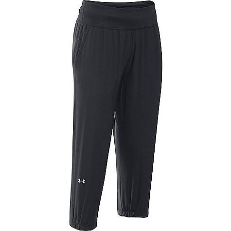 Under Armour Women's UA Sunblock Crop Pant Black / Metallic Silver