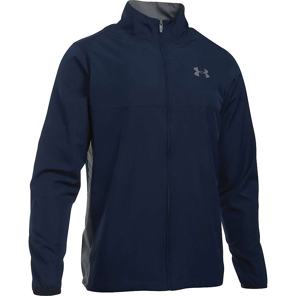 Under Armour Men's UA Vital Woven Warm-Up Jacket - Large Tall - Midnight Navy / Graphite / Graphite