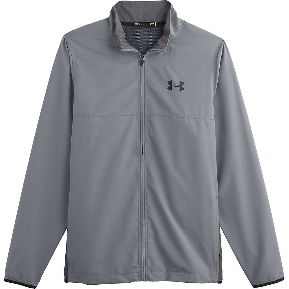 Under Armour Men's UA Vital Woven Warm-Up Jacket - XL - Steel / Graphite / Black