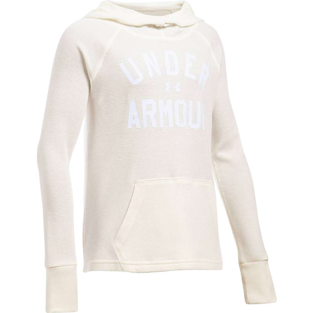 Under Armour Girls' Waffle Hoody - XL - Ivory / White