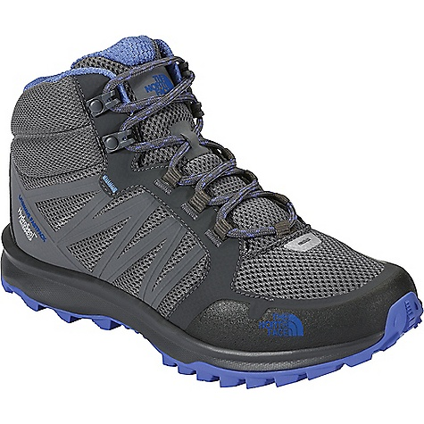 The North Face Women's Litewave Fastpack Mid Waterproof Shoe Zinc Grey / Amparo Blue