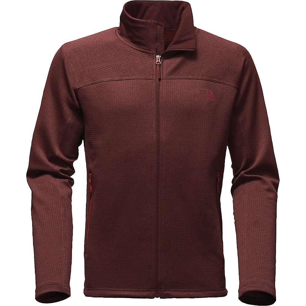 The North Face Men's Needit Full Zip Top - Large - Sequoia Red Heather / Sequoia Red Heather