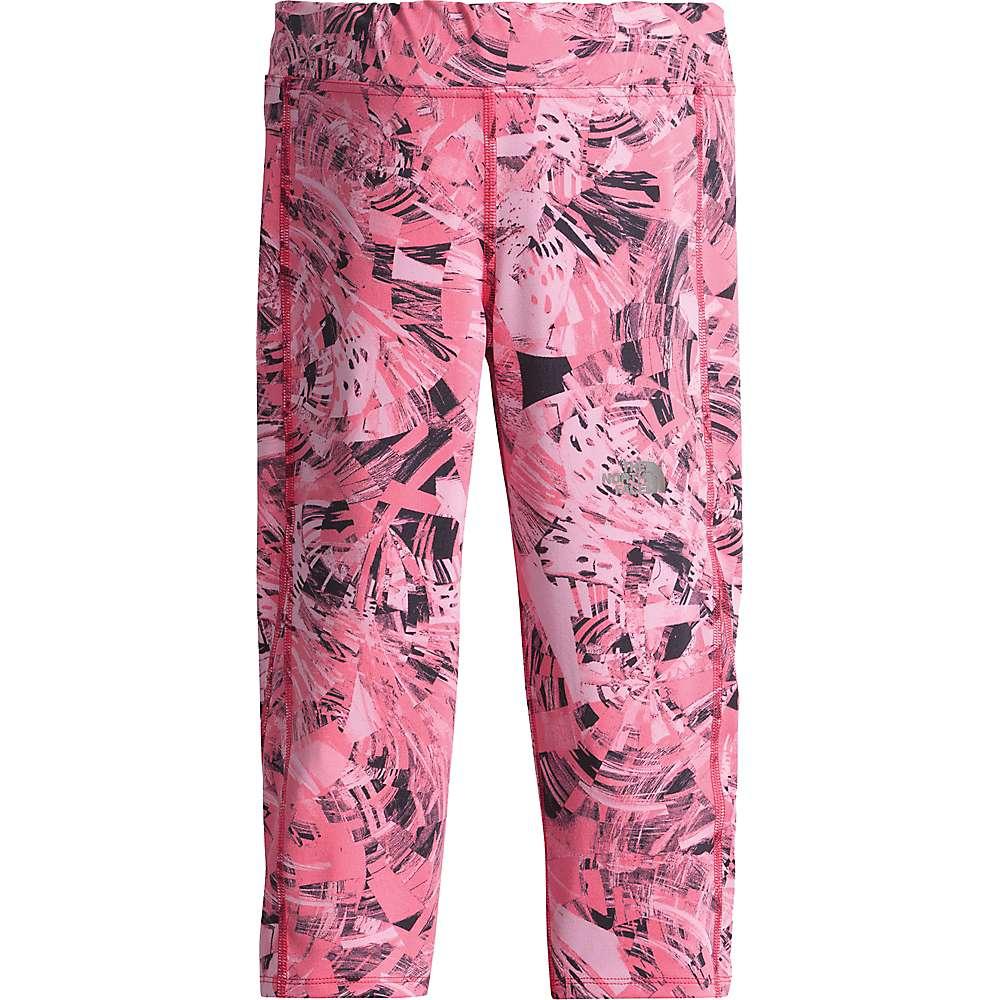 The North Face Girls' Pulse Capri - XXS - Honeysuckle Pink Spirograph Sportswear Print