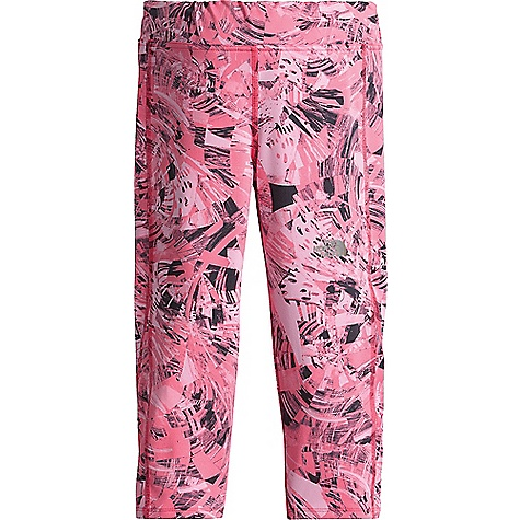 The North Face Girls' Pulse Capri Honeysuckle Pink Spirograph Sportswear Print