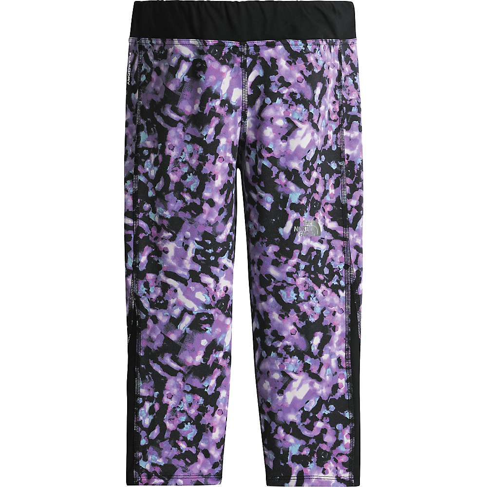 The North Face Girls' Pulse Capri - XL - Violet Tulle Bokeh Sportswear Print