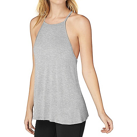Beyond Yoga Women's Lay Low Tank Top Light Heather Grey