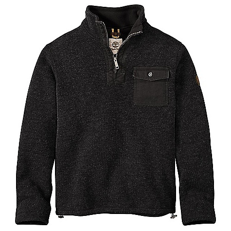 Timberland Men's Branch River Half Zip Fleece Jacket Black Heather