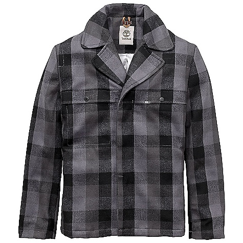 Timberland Men's Mountain Plaid Dock Coat Charcoal